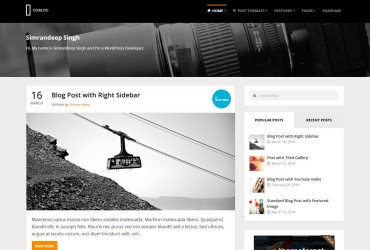 GoBlog tema noua