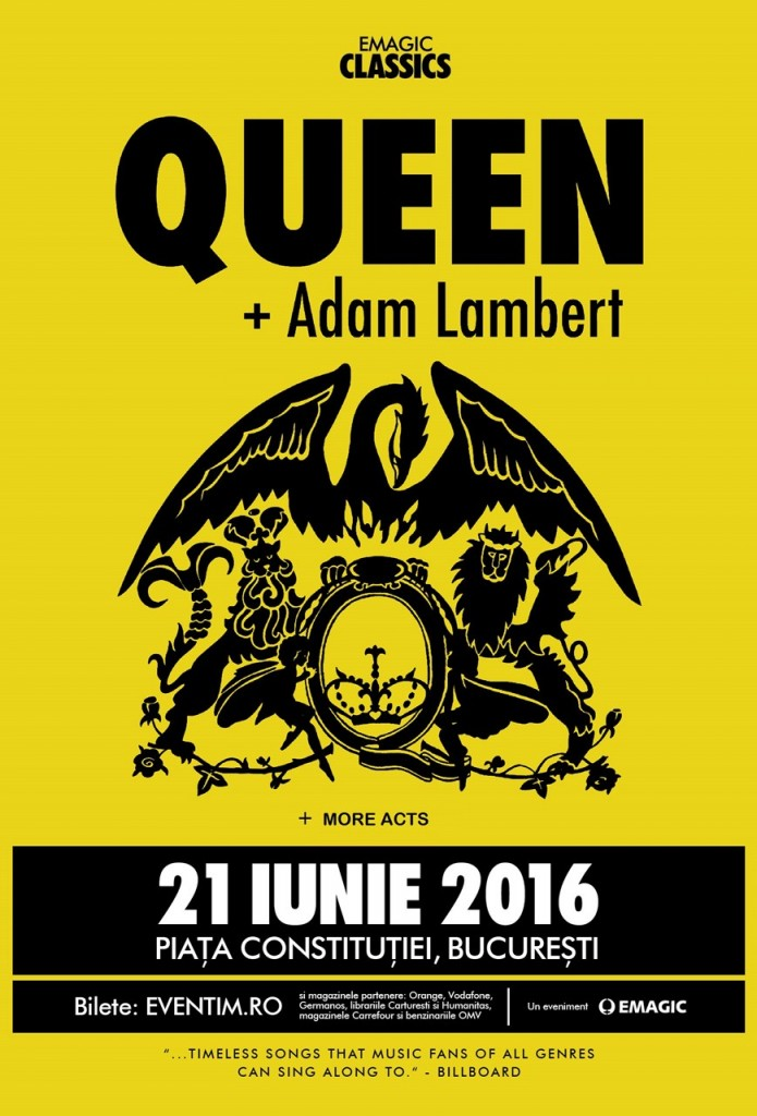 Queen & Adam Lambert - concert Bucuresti 2016
